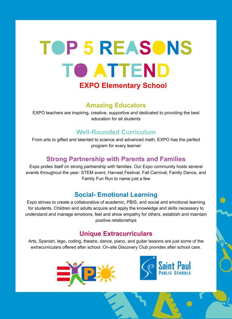 Top 5 Reasons To Attend EXPO Elementary