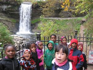 Minnehaha Falls - We learn about the Mississippi River and water