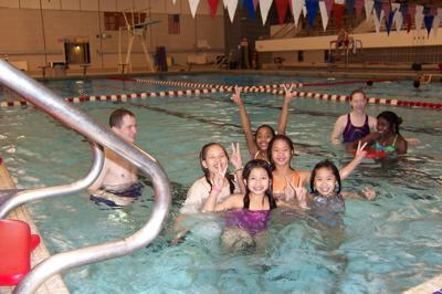 Fifth Graders enjoy swimming at Hamline!