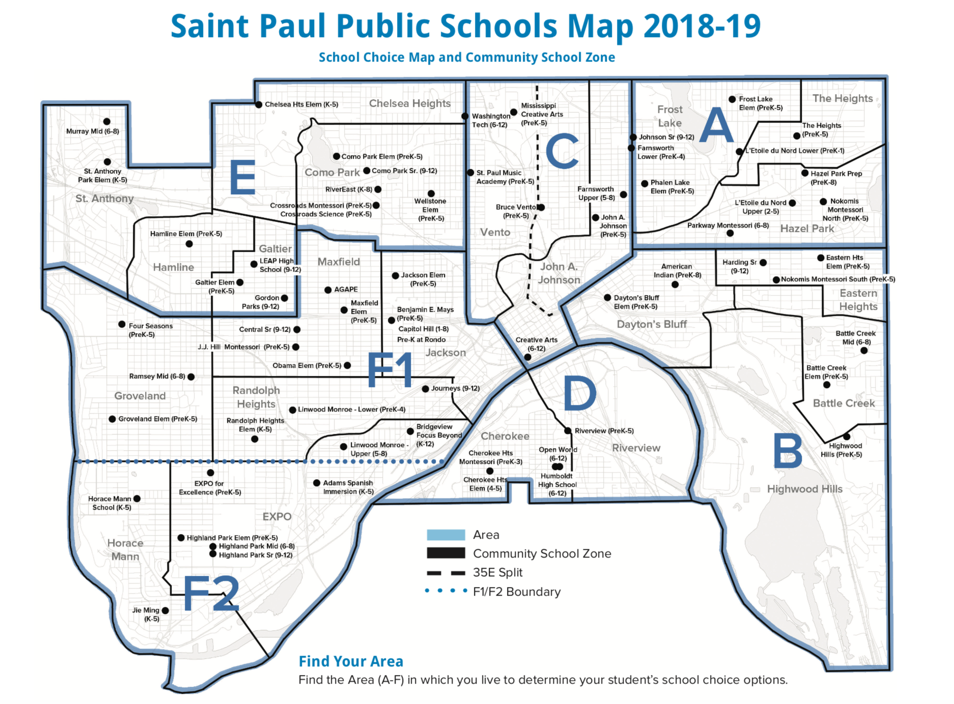 Saint Paul Public Schools Map