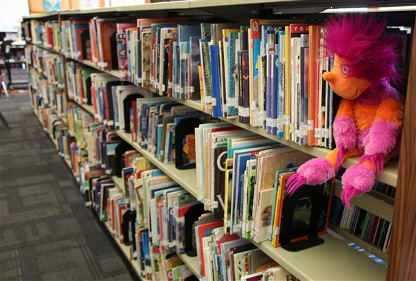puppet in library stacks