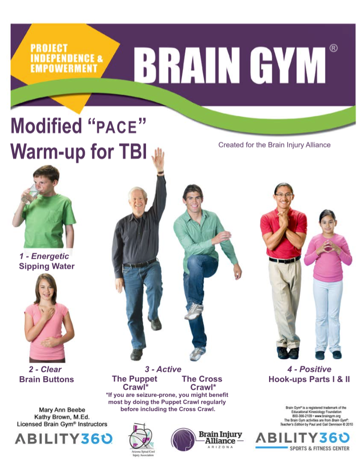 Brain gym hook up exercise