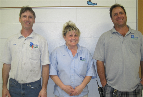 Custodial Staff: Tom Hill, Sharon Thole, Tom Mroszak