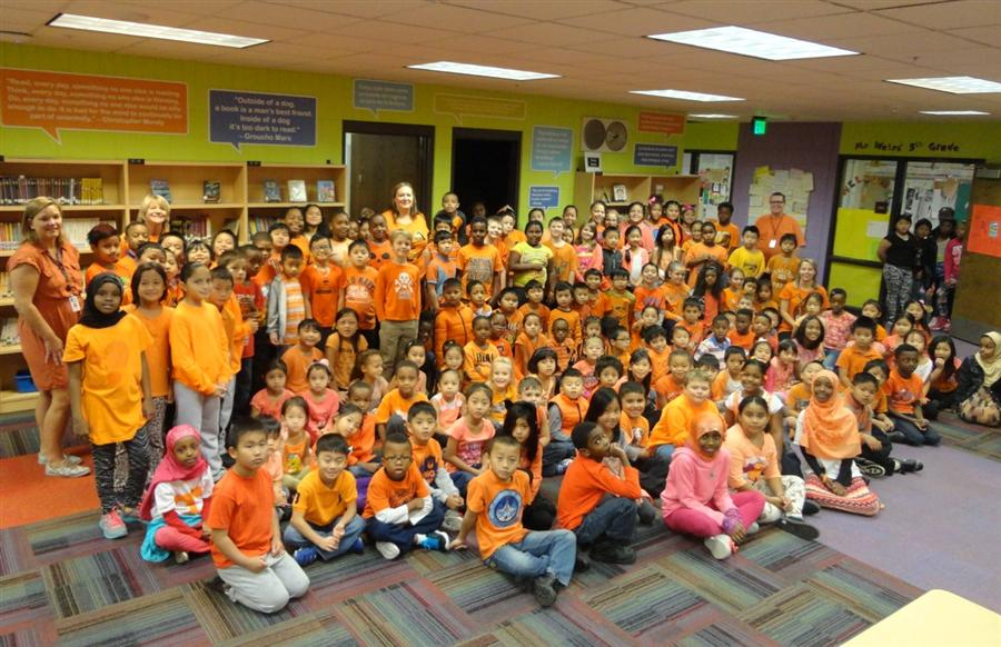 Wearing orange to support the end of bullying