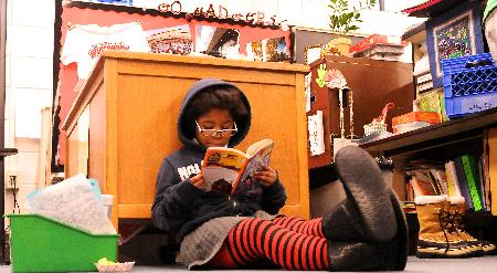 Student reading