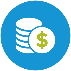 Stack of coins icon.