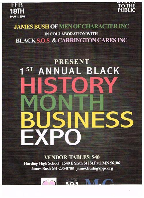 Black History Month Business Expo poster.