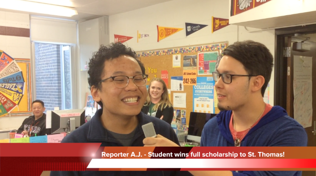 Interview with the scholarship winner.