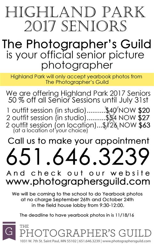 2017 Senior Portrait Information