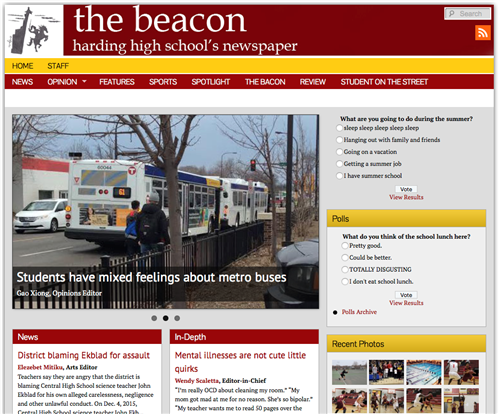 Harding student newspaper - the beacon