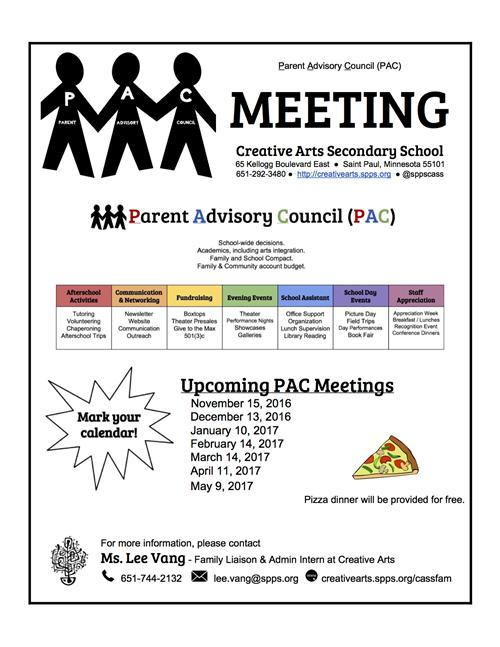 Parent Advisory Council Flyer