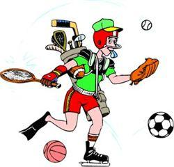 Man playing all sports