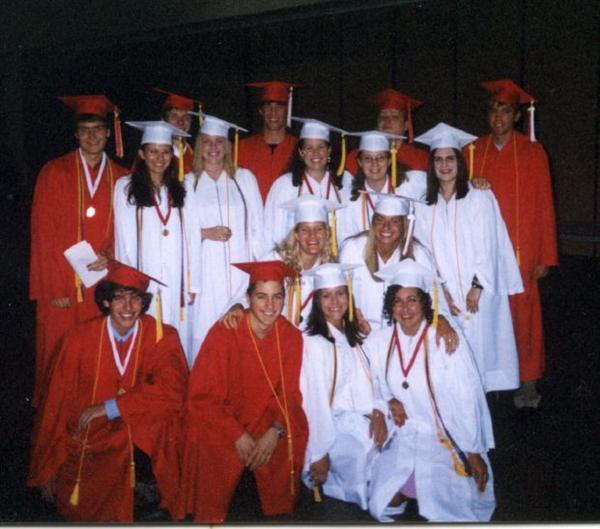 Here are the EXPO alumni, recently graduated from St. Paul's Highland High School. Notice all the honors cords and tassels!