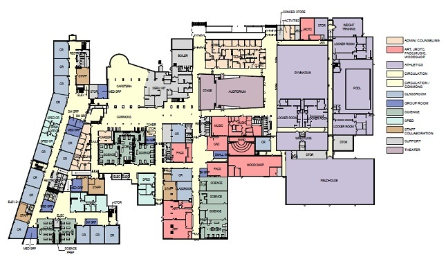 Como Senior High School Site Plan