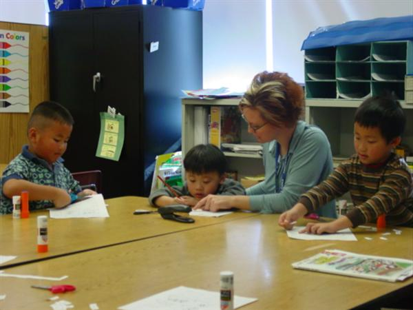 ELL Teacher Amber Erickson provides quality time.