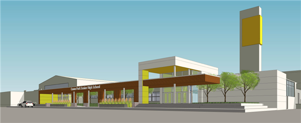 Facilities master plan como park senior high school for Exterior design school